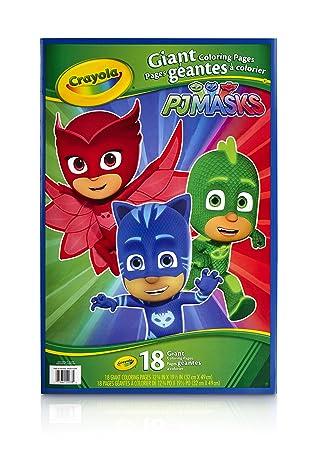 Crayola 04 - 0078-a-001 PJ Máscaras Gigante Páginas para Colorear ...
