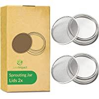 Set Van 2 Kiemdeksel Voor Potten   Voor 7 cm Mason Jar   Eenvoudig Gezonde Kiemgroenten en Spruitgroenten Thuis   Deksel…