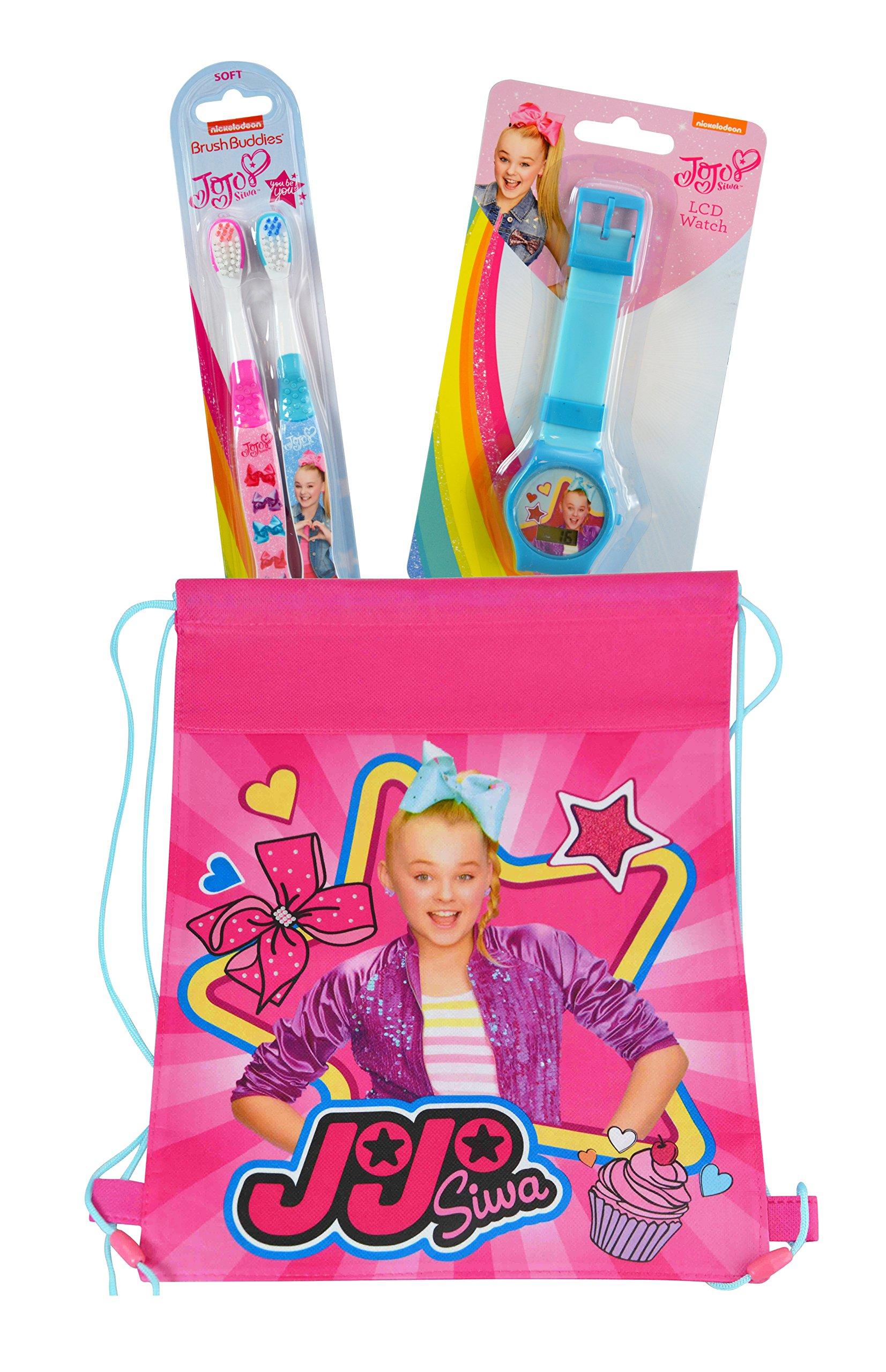 JoJo Siwa Travel Fun Set, Digital Watch and 2pk Kids Toothbrush with Travel Sling Bag by JoJo Siwa (Image #1)