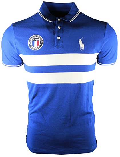 Polo Ralph Lauren Men s Custom Slim Fit Country Polo Shirt (S, France Blue) 2dadb19162