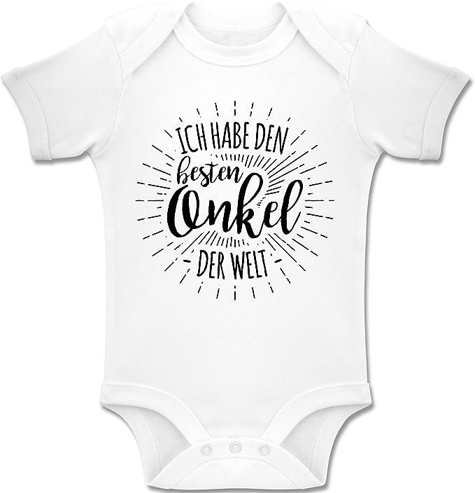 Spr/üche Baby Sei lieb zu Mir sonst sag ichs Papa Baby T-Shirt Kurzarm Shirtracer