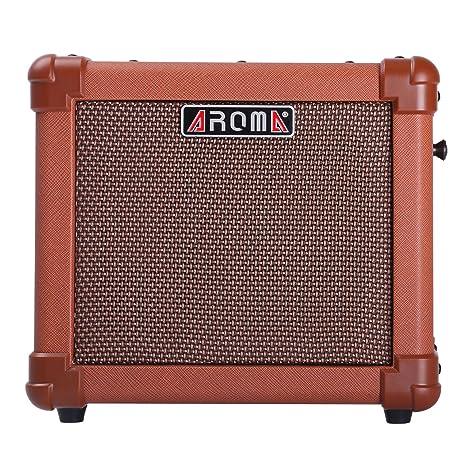 Amplificador para Guitarra Acústica AROMA de 10W con Batería Recargable