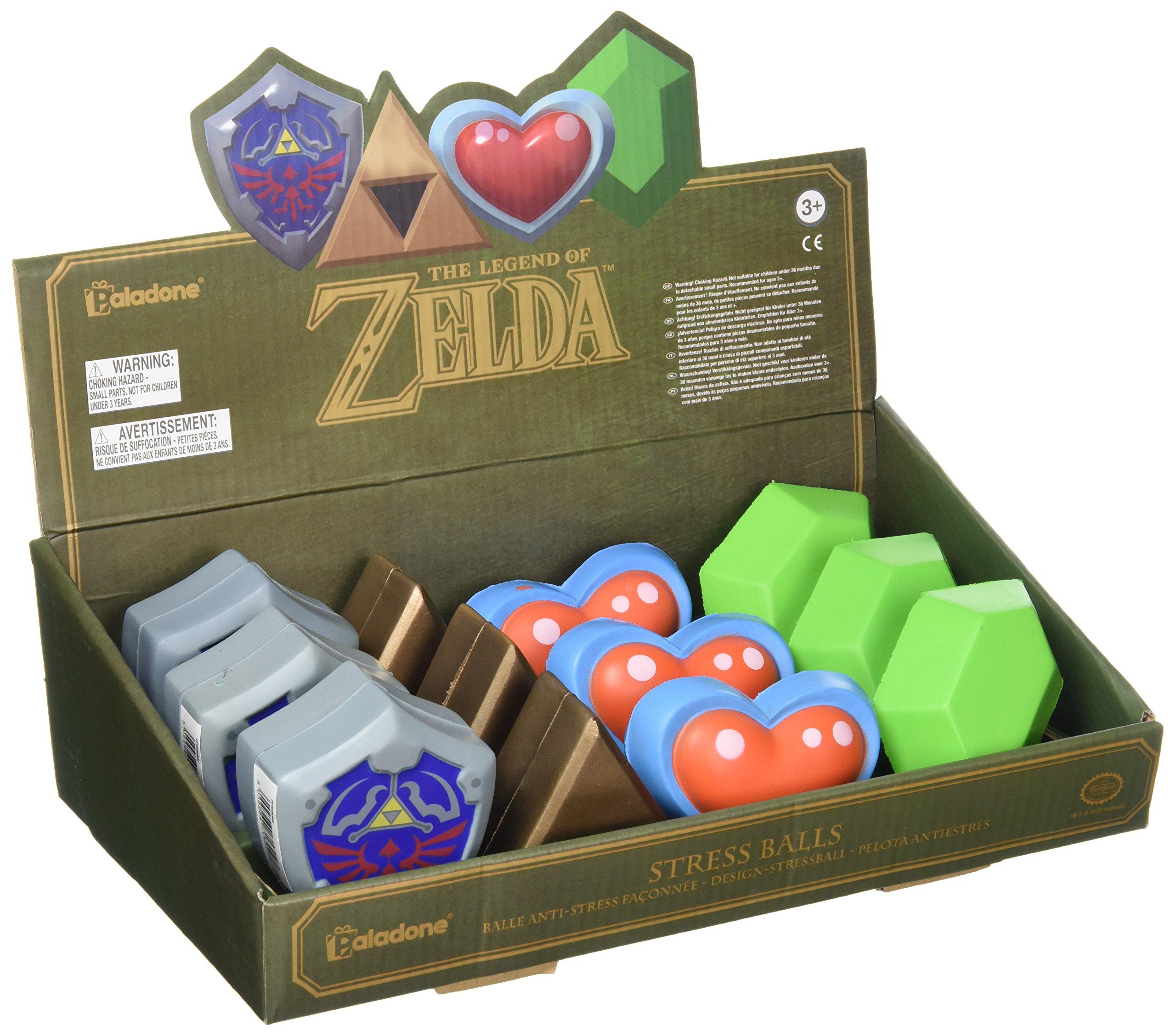 Legend of Zelda 3D Stress Balls, 12 Pack