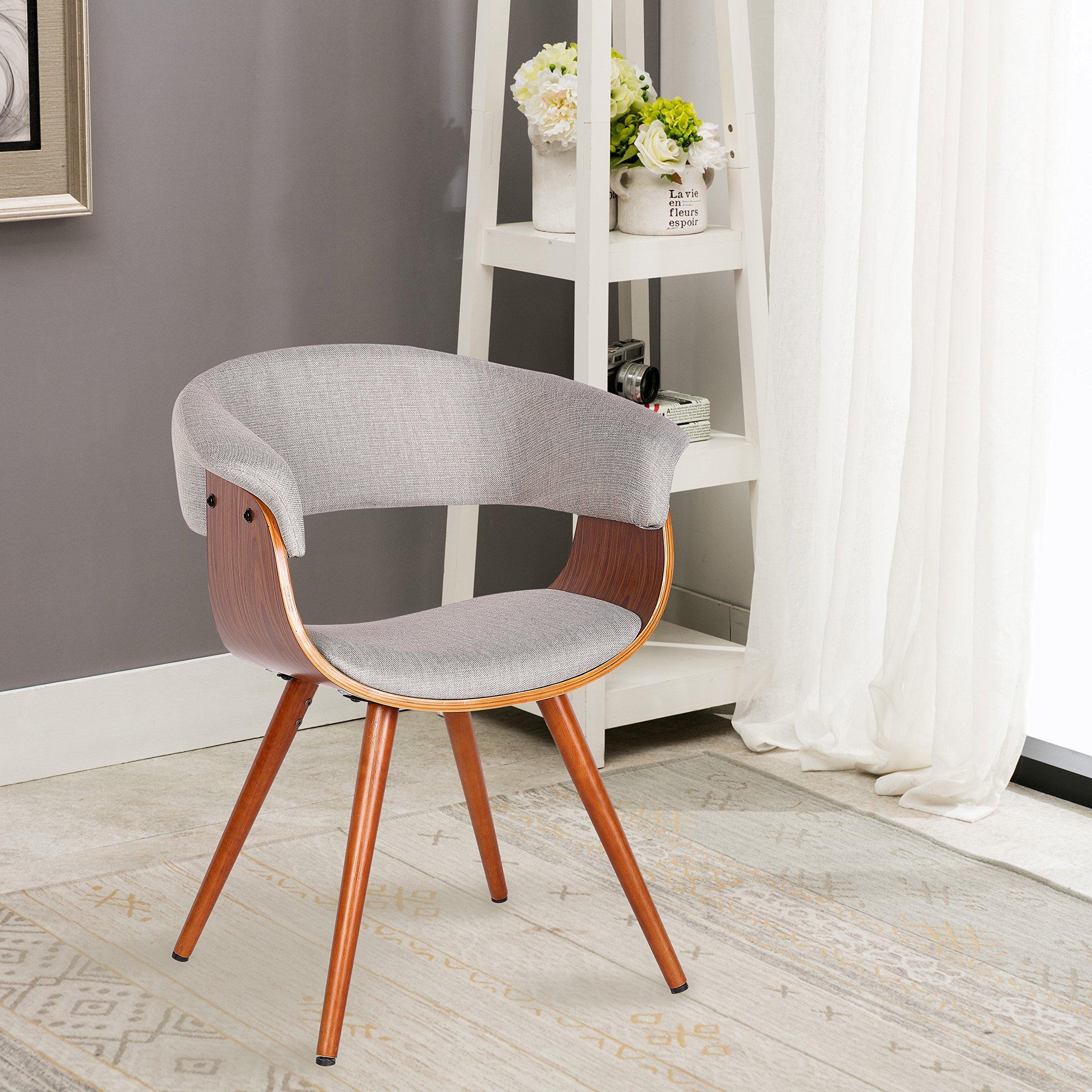 Porthos Home Finola Upholstered Side Seat, Grey