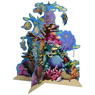 Beistle 57323 3D Coral Reef Centerpiece, 10-Inch: Kitchen & Dining