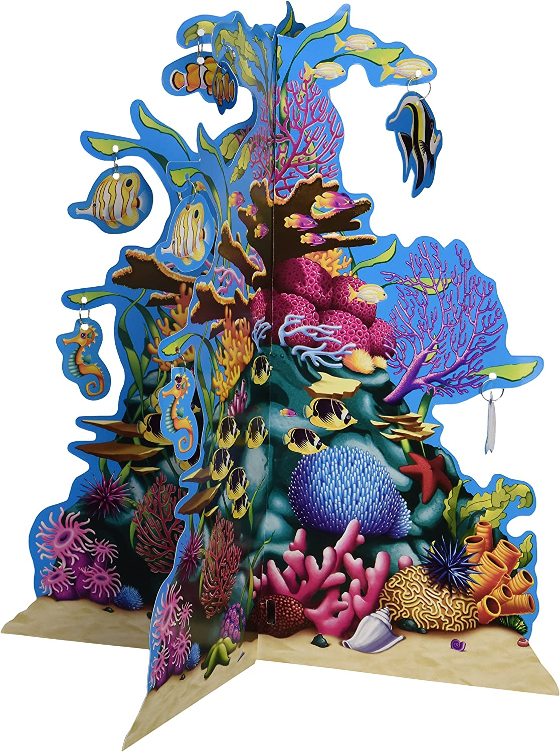Beistle 3D Coral Reef Centerpiece, 10-Inch,Multicolored