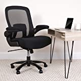 Flash Furniture Big & Tall Office Chair   Black Mesh Executive Swivel Office Chair with Lumbar and Back Support and…