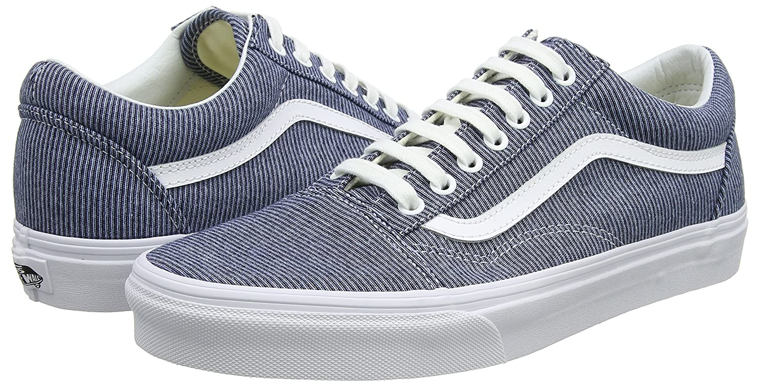 Vans Unisex Old Skool Classic Skate Shoes B01I2BZ0EY 6.5 B(M) US Mujer / 5 D(M) Hombre US|Blue/True White