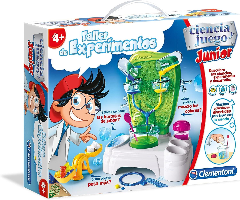 Clementoni - Ciencia Junior, Taller de experimentos (55155.2): Amazon.es: Juguetes y juegos