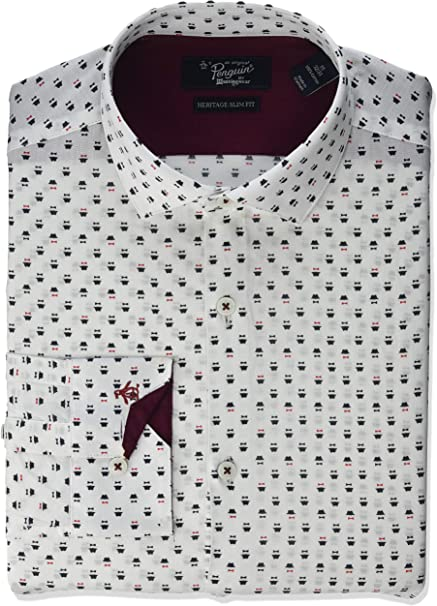 Original Penguin Mens Slim Fit Fashion Dress Shirt