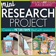 Mini Research Project with 3-D Picture Frames to Display Work, Research Skills, Research Project Template, Research Writing