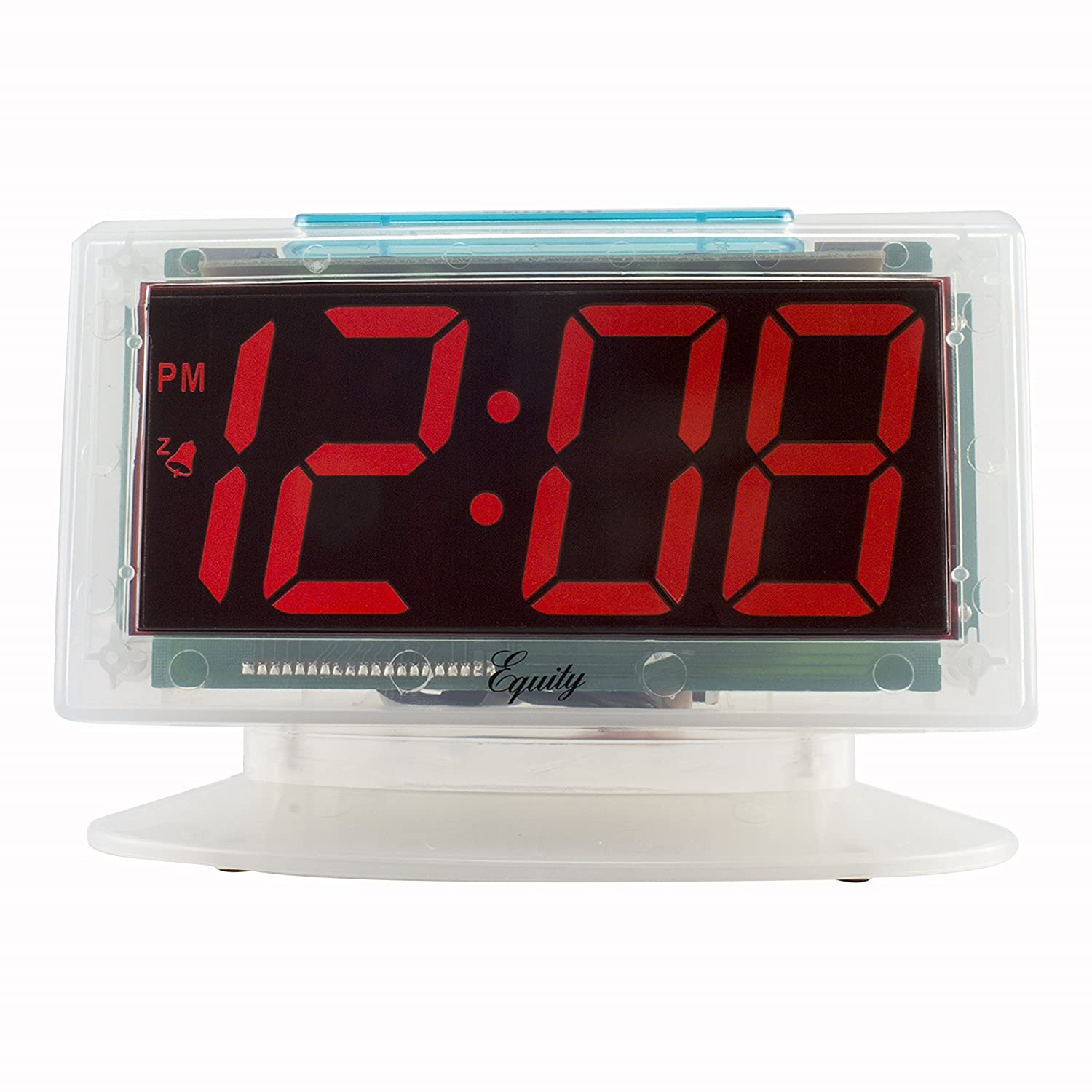 Red LED Electric Alarm Clock Equity by La Crosse 30040 Jumbo Clear 1.8 in