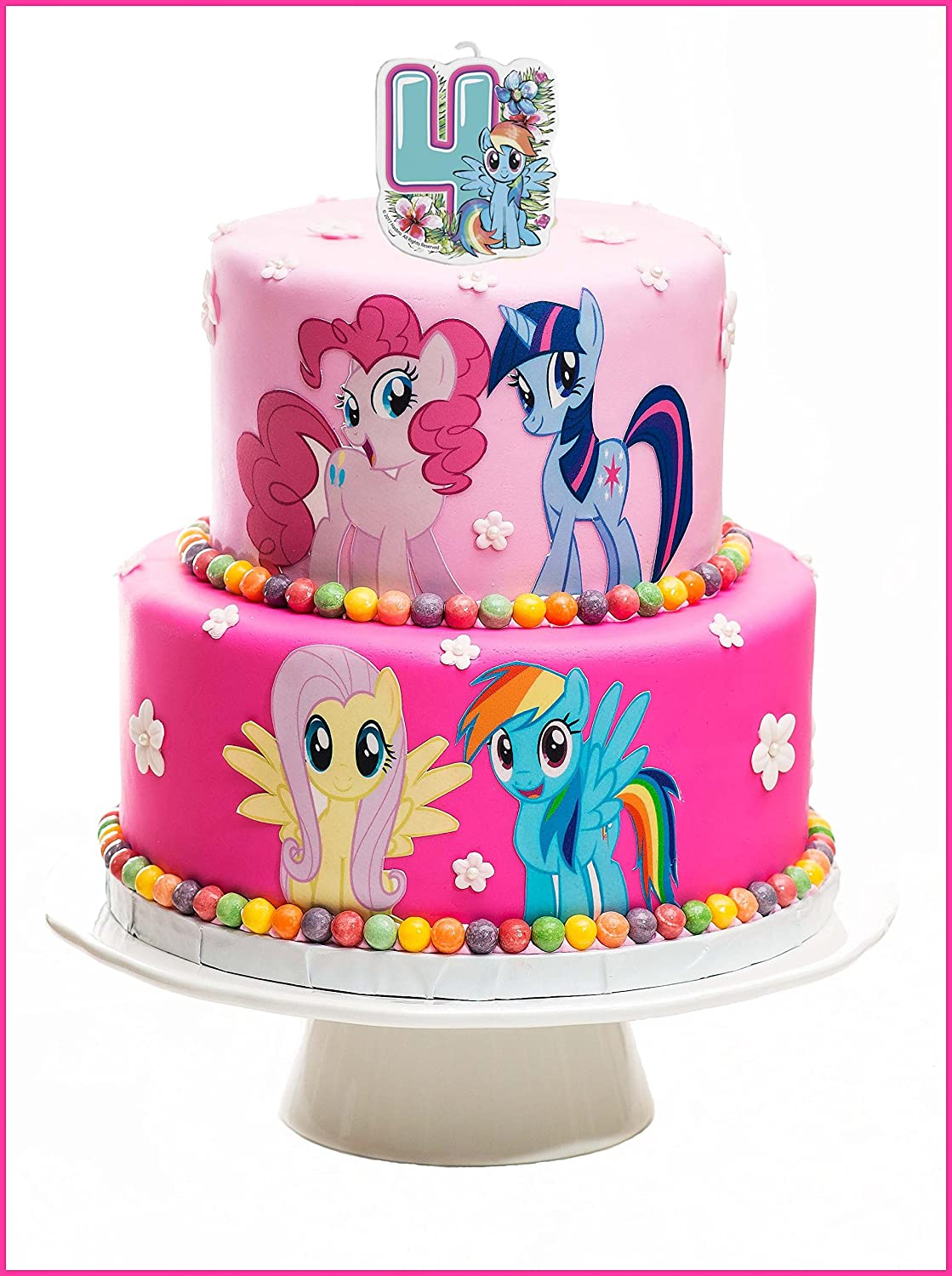 Andle On A Cake Topper 4 Year My Little Pony Must Have Accessories
