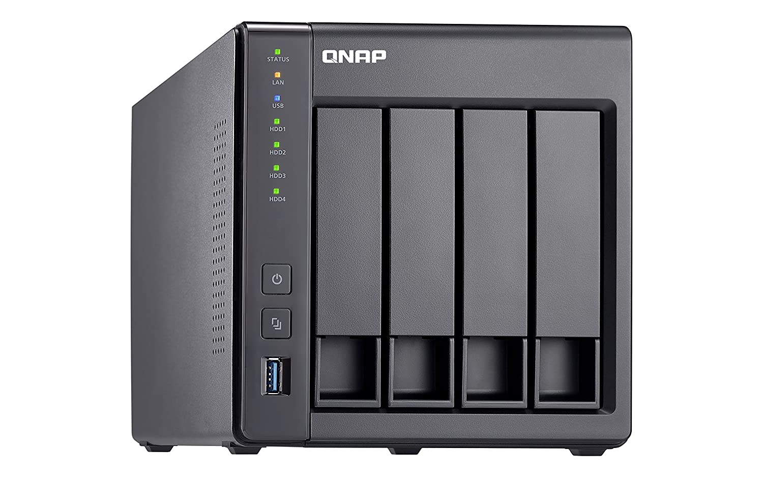 QNAP TS-431X-2G-USARM-based NAS with Hardware Encryption, Duad Core 1 7GHz,  2GB RAM, 1 x 10GbE(SFP+) ,2 x 1GbE