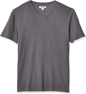 Goodthreads T-shirt col V en coton et lin pour homme Marque