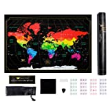 Amazon Price History for:Dreamer's Map- Detailed Scratch off World Map- Easy to Scratch World Travel Map with US States and Complete Set of Accessories