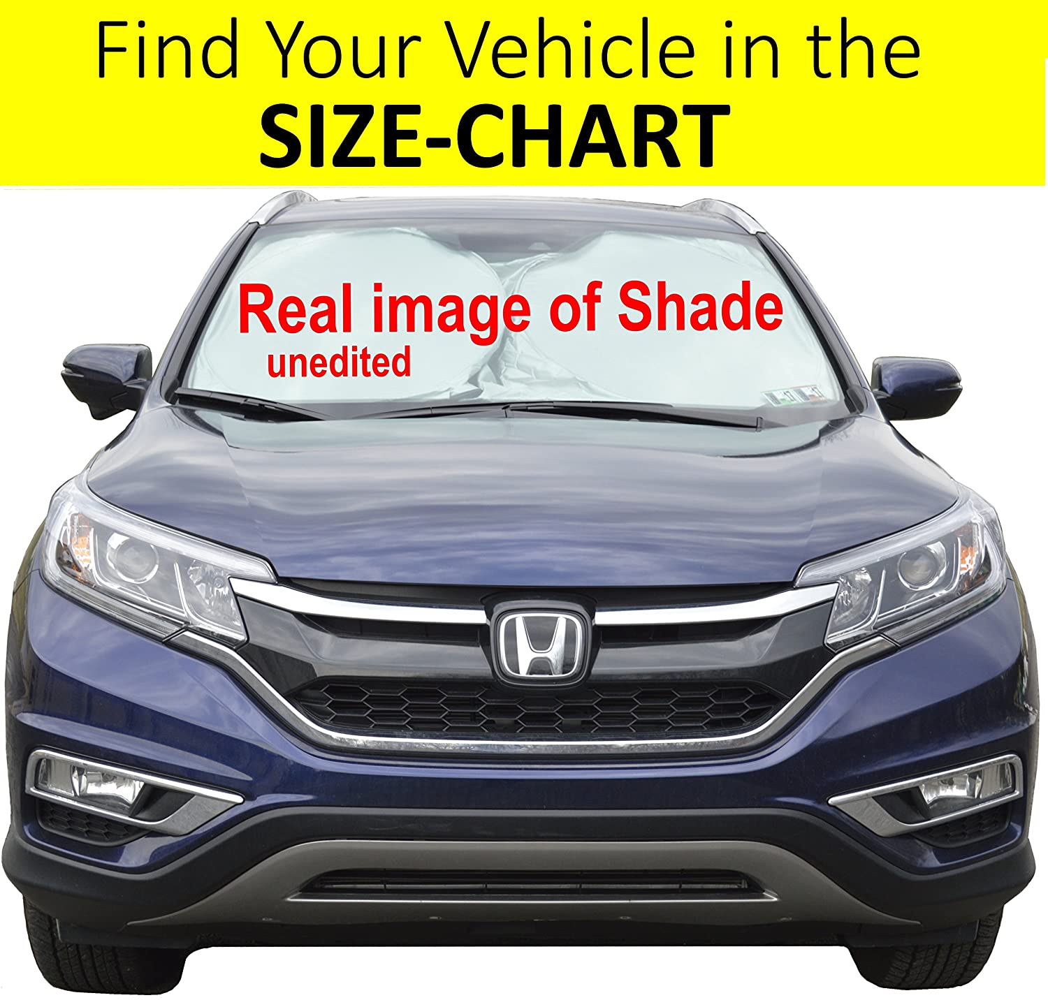Windshield Sun Shade Exact-Fit Size Chart for Cars Suv Trucks Minivans Sunshades Keeps Your Vehicle Cool Heat Shield Medium Anchor Sun Shades A1001; A1002