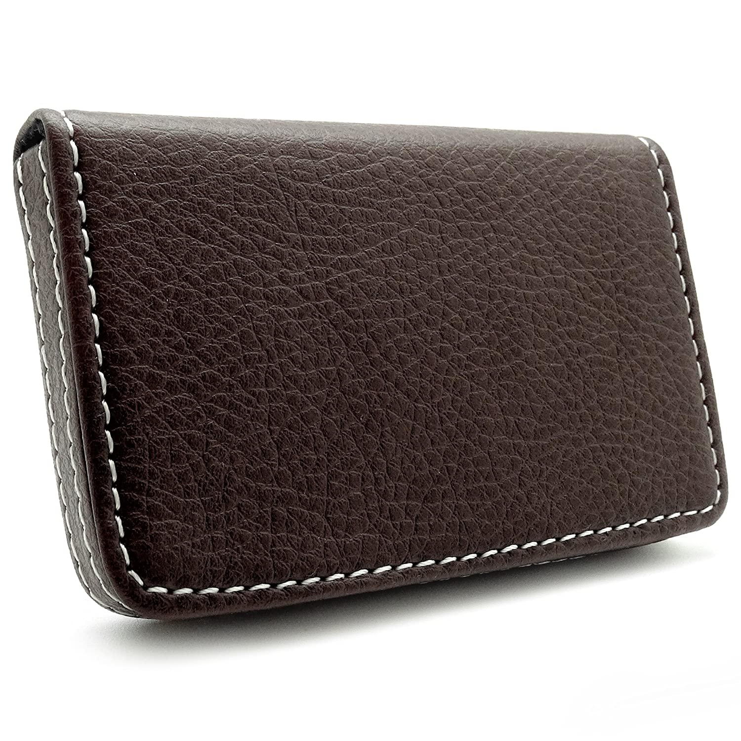 Amazon.com : Rembrandt Leather Business Card Holder - Brown : Office ...