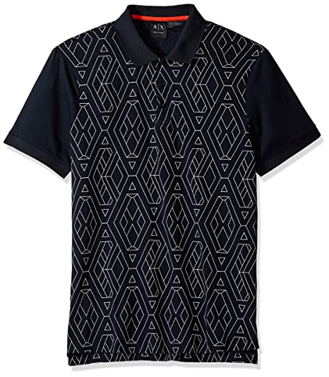 c85f0d00 Amazon.com: A|X Armani Exchange Men's Short Sleeve Polo Shirt: Clothing