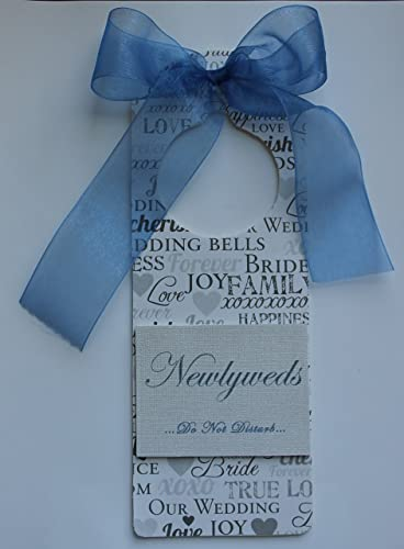 3bd63dc0b9 Custom Handmade Wedding Room Door Hanger for Newlyweds Honeymooners Just  Married