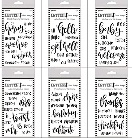 Ranger Letter It Clear Stamps Thank You