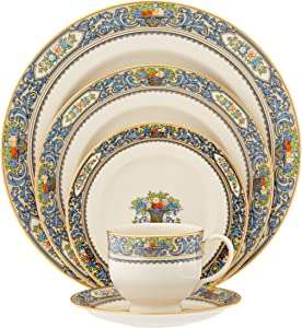 Lenox Autumn Gold-Banded Fine China 5-Piece Place Setting, Service for 1