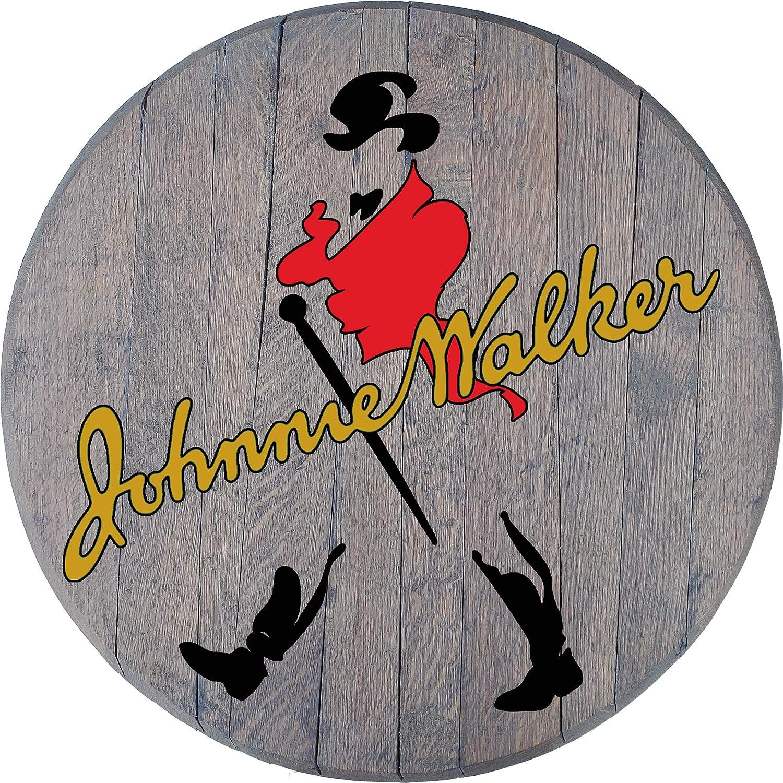Johnnie Walker Whiskey - Red Coat Wood Barrel Rustic Wall Art