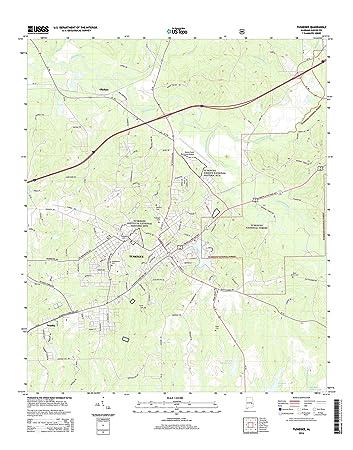 Amazoncom Topographic Map Poster TUSKEGEE AL TNM GEOPDF 75X7