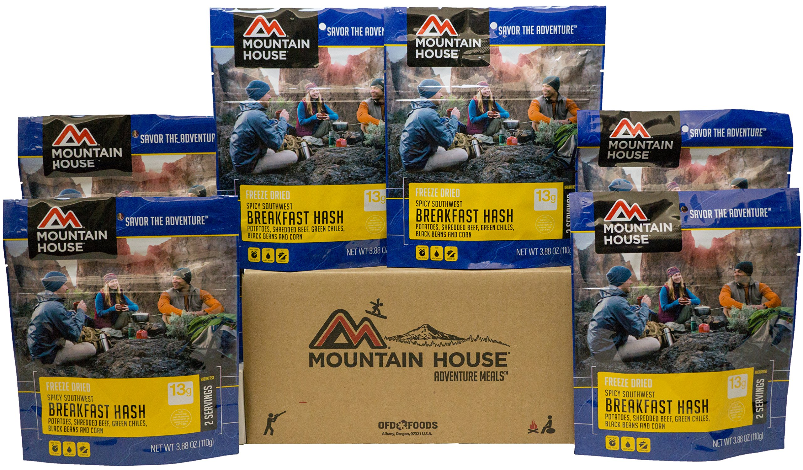Mountain House Spicy Southwest Breakfast Hash 6-Pack by Mountain House (Image #1)