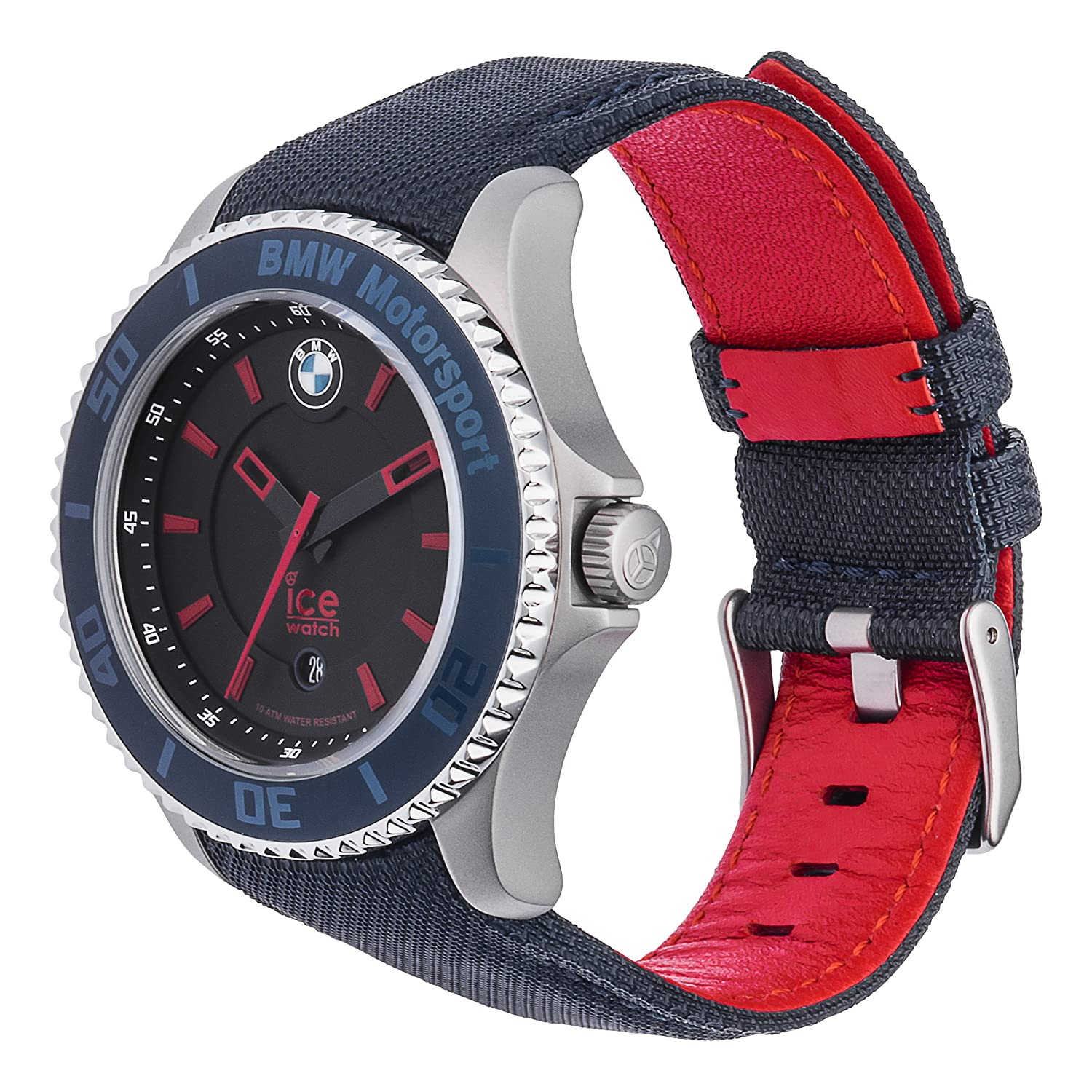 Ice-Watch - BMW Motorsport (steel) Blue Red - Men s wristwatch with leather  strap - 001114 (Medium)  Amazon.co.uk  Watches e35450b552
