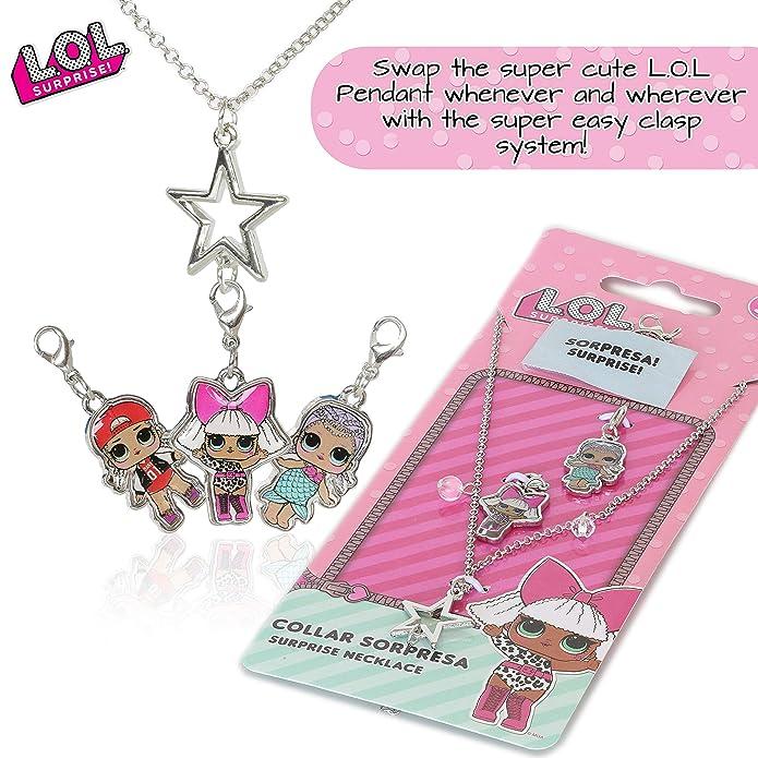 Silver Charm Necklace Pendant LOL L.O.L Surprise Doll Rocker