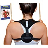 Perfect Posture Corrector for Women and Men + Free Posture E-Book! Adjustable Clavicle Brace Providing Shoulder, Neck and Back Pain Relief and Support. Improves Posture and Boosts Your Confidence