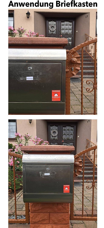 Pegatinas/ /Alerta alarmgesichertes Casa/ puertas y buz/ón/ /au/ßenklebend para ventanas /Protecci/ón contra el a /5/Unidades En Calidad Premium 70/mm x 50/mm/