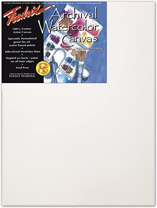 Tara Stretched Back Stapled Cotton Canvas White 8 x 10 inches Pack of 3