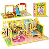 STORYTIME TOYS D.W.'s First Day of Preschool 3D Puzzle - Book and Toy Set - 3 in 1 - Book, Build, and Play