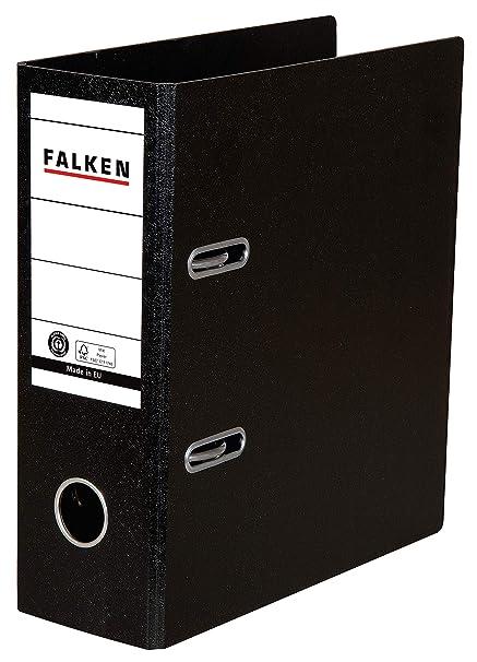 Falken Das Original Ordner Sonderformat Hartpappe 8 cm breit DIN A5 hoch schwarz Rezepte Ringordner Aktenordner Briefordner B