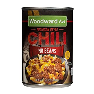 Woodward Ave Chili No Beans, 15 oz (Pack of 12)