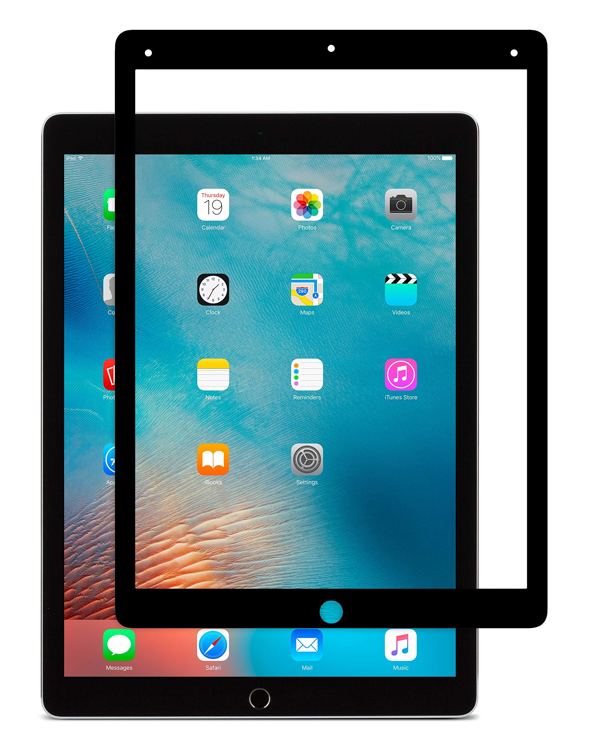Moshi iVisor AG Anti-Glare Screen Protector for iPad Pro 12.9-inch Black (Clear/Matte) (99MO020014)