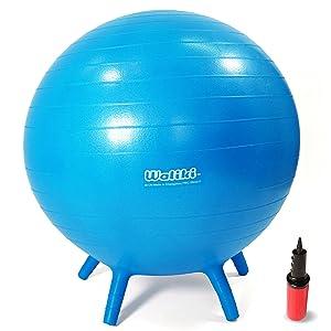 "WALIKI Chair Ball with Feet for Kids | Alternative Classroom Seating | Balance Ball | 20""/50CM Blue"