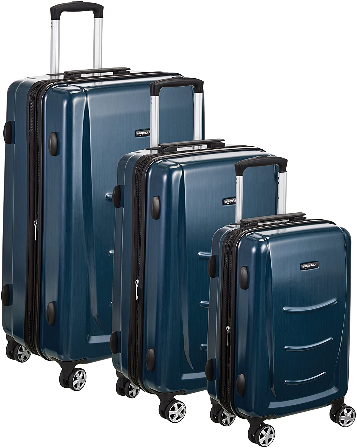 AmazonBasics Hardshell Spinner Luggage, Navy Blue N991