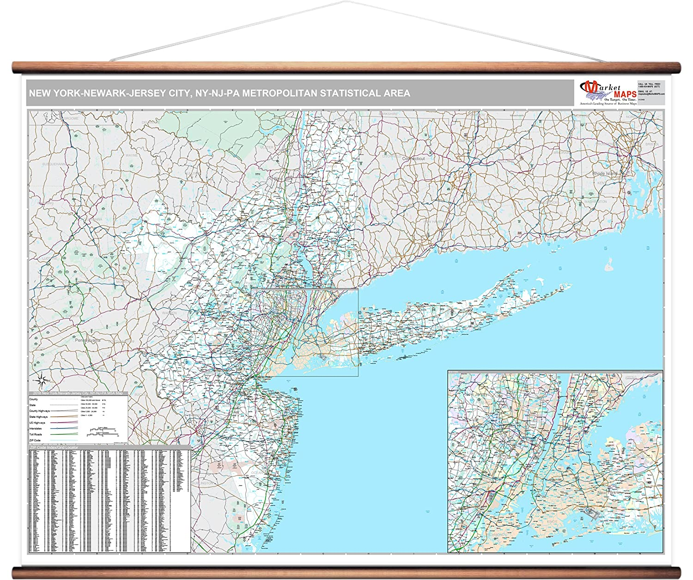 Amazon Com Marketmaps New York Newark Jersey City Ny Metro Area