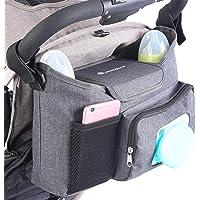 LittleXplorer Baby Stroller Organizer: Wet Wipes Dispenser Pocket - Stroller Cup Holders - Baby Diaper Caddy Organizer…