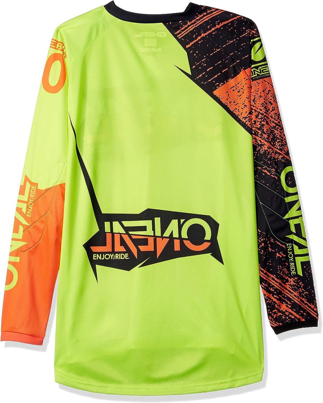 0008 Jersey Shirt Enduro Fuoristrada Moto Cross Adulti ONeal Elemento Burnout MX Motocross Jersey
