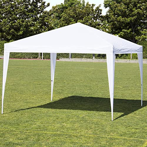 Best Choice Products 10x10ft Outdoor Portable Lightweight Folding Instant Pop Up Gazebo Canopy Shade Tent w Adjustable Height, Wind Vent, Carrying Bag – White