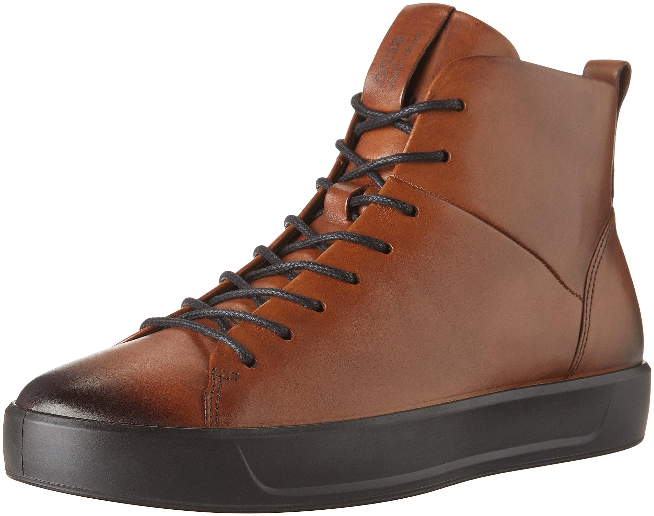 ECCO Men's Soft 8 High Top Fashion Sneaker, Lion, 46 M EU / 12-12.5 D(M) US