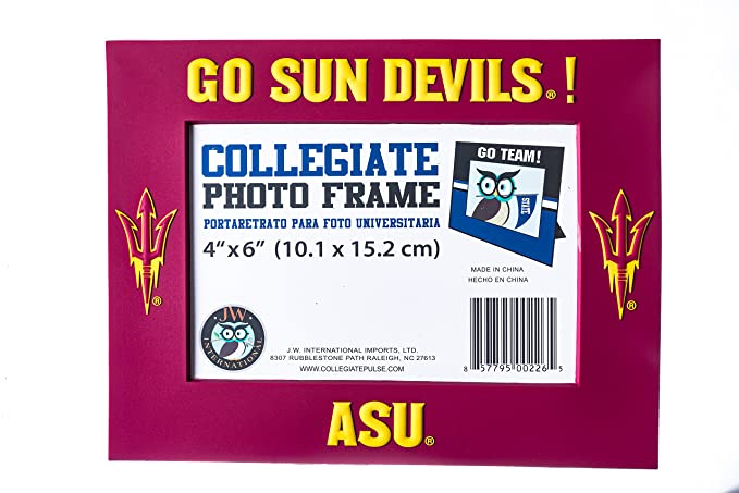 Amazon.com : Collegiate Pulse Arizona State Sun Devils NCAA PVC Photo Frame : Sports & Outdoors