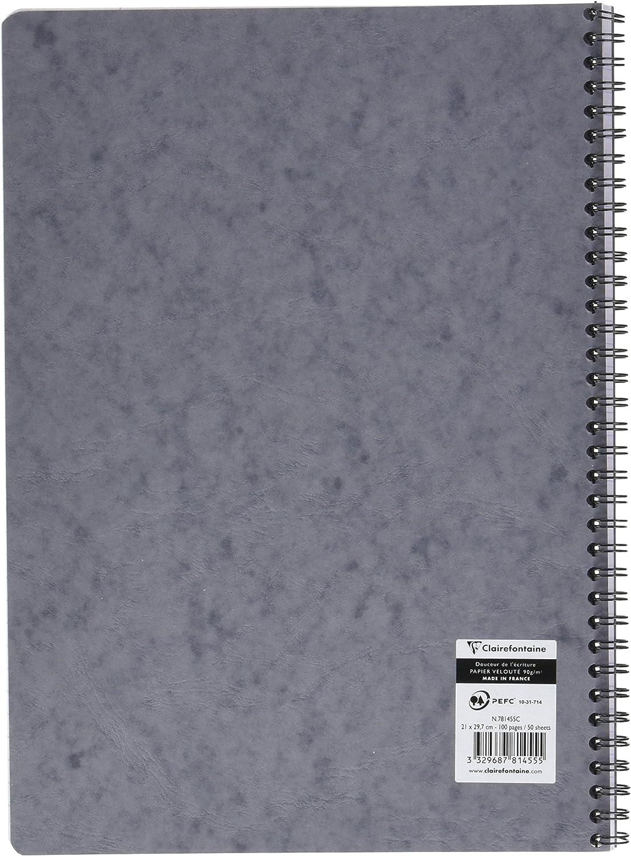 Clairefontaine 78536C Spiralbuch DIN A5, 14,8 x 21 cm, Age Bag liniert mit Rand, 50 Blatt 1 St/ück braun