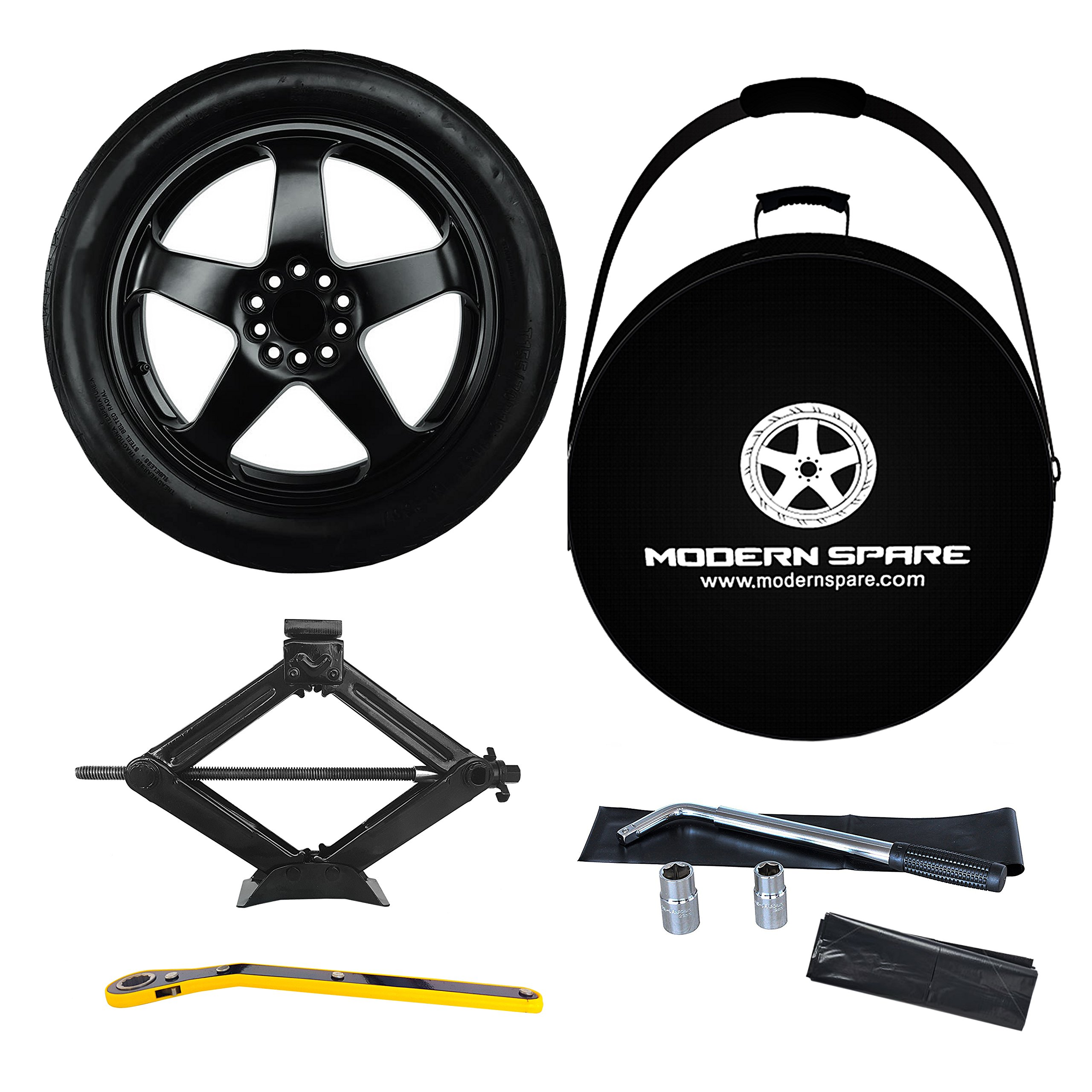 Complete Compact Spare Tire Kit w/ Carrying Case - Fits 2016-2021 Chevrolet Camaro Including ZL1 - Modern Spare