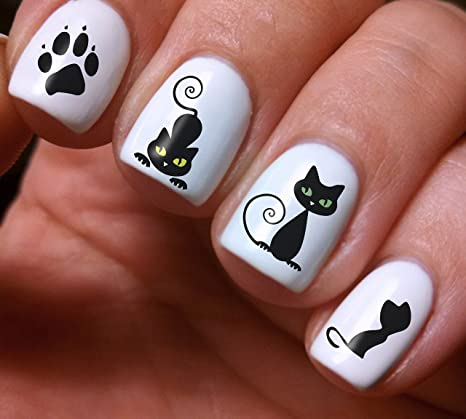 Nail Art Decals Set 3D DIY Black Cat Animals - Original Beauty Fashion  Style High Quality - Amazon.com: Nail Art Decals Set 3D DIY Black Cat Animals - Original