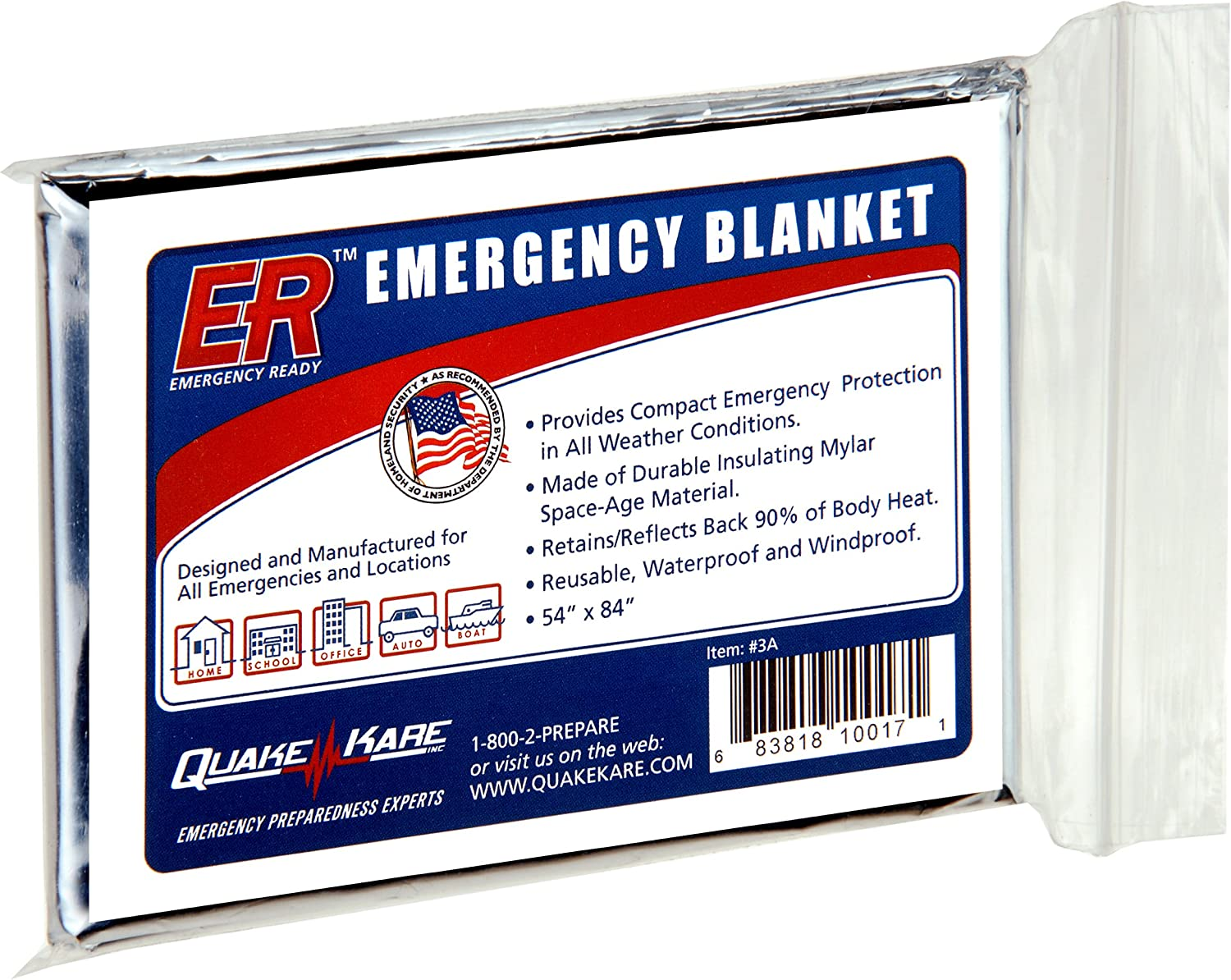 First Aid Rescue Blanket Emergency Survival Space Rescue Prep Thermal Mylar Mo